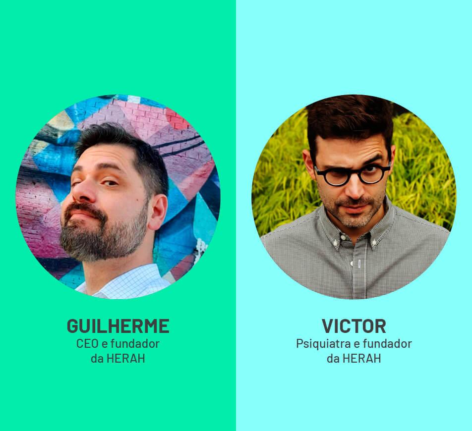 Dr. Guilherme Malaquias e o Dr. Victor Bigelli
